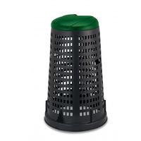 купить Мусорный контейнер Trespolo 100 л, черный с крышкой зелёной в Кишинёве