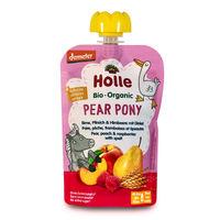 Пюре Pear Pony с грушей, персиком, малиной и пшеницей с 8 месяцев Holle Bio Organic, 100 г