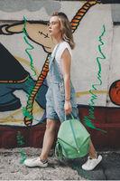 """Женский рюкзак """" Дели """" (Emerald)"""