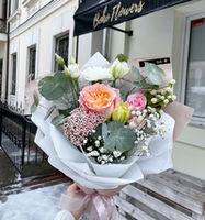 Мини букет из роз и тюльпанов
