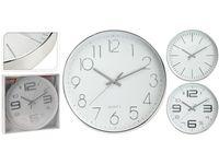 Часы настенные круглые D30.5cm, металл, сереб