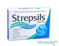 Strepsils® Mentol pastile 1,2 mg + 0,6 mg + 8 mg N12x2