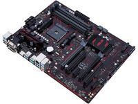 ASUS PRIME B350-PLUS, Socket AM4, AMD B350, Dual 4xDDR4-3200, APU AMD graphics, DVI, HDMI, 2xPCIe X16, 6xSATA3(6Gb/s), RAID, 1xM.2 slot, ALC887 7.1ch HDA, GigaBit LAN, 2xUSB3.1 Gen 2, 6xUSB3.1, 5X Pro.III, ATX