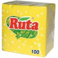 Ruta салфетки бумажные обычные, 100 шт