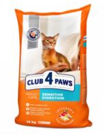 Клуб 4 лапы  для кошек с чувствительным желудком,14кг