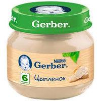 Gerber пюре из цыпленка, 6+ мес, 80 гр
