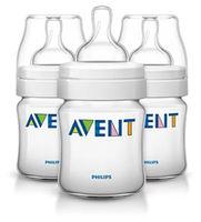 Набор бутылочек Philips AVENT Classic 125 мл с силиконовой соской (0+ мес) 3 шт