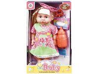 Кукла со звуком и аксессуарами (роз горошек), 32X18.511cm