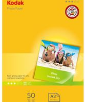 Kodak Photo Gloss A3 Paper 180gsm 50pk (5740-550)