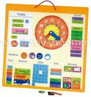 """3ToysM K1 50377 Деревянная панель """"Магнитный календарь"""" (англ. яз.)"""