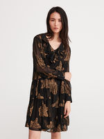 Платье RESERVED Черный с принтом xu245-99x