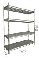 купить Стеллаж оцинкованный металлический Gama Box  1490Wx380Dx1530H мм, 4 полки/МРВ в Кишинёве