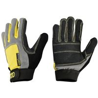Перчатки Kong Alex Full Gloves Kevlar , black/yellow, 952.03