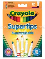 Crayola 7509 Фломастеры тонкие смываемые SuperTips (12 шт.)