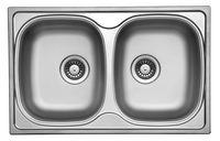 Кухонная  мойка  UKINOX  790  500 /20  0.6  рифленная