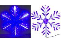 "Световая фигура ""Снежинка"" 180LED, 60cm, бел/синий цвет"