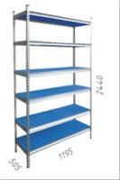 купить Стеллаж металлический с пластиковой плитой Moduline 1195x505x2440 мм, 6 полок/PLB в Кишинёве