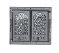 Дверца чугунная со стеклом двустворчатая LITWA
