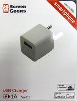 Зарядное устройство сетевое Screen Geeks USB 1A, alb ( VE-01)