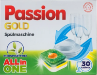 Tablete pentru mașina de spălat vase Passion Gold All in One 30 file.