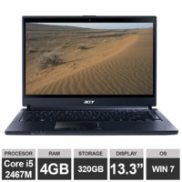 "Ноутбук Acer TravelMate 8481 (13,3"" i5 2467M 4GB 320GB HDGraphics Win7) Brown"