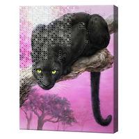 Хищник, 40x50 см, комбо-набор роспись по номерам + алмазная мозаика, YHDGJ72575