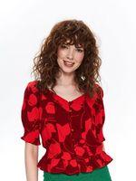Блуза TOP SECRET Красный с принтом