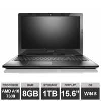 "Ноутбук Lenovo IdeaPad Z50-75 (15,6"" A10 7300 HDGraphics 8GB 1TB Win8) Black"