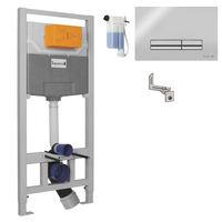 IMPRESE комплект инсталляции для унитаза 3в1, система OLIpure (инсталляция, крепления, клавиша хром PANI)