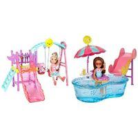 Mattel Барби кукла Челси с качелей или с бассейном