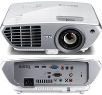 "DLP FullHD Projector 2000Lum,  10000:1 BenQ ""W1300"", White, 3.4kg Projection System : DLP Native Resolution : 1080p (1920 x 1080) Brightness* : 2,000 ANSI Lumen Contrast Ratio : 10,000:1 Display Color : 1.07 Billion Colors Lens : F= 2.42 - 2.97, f= 20.7 - 31.05 mm Aspect Ratio : Native 16:9 (5 aspect ratio selectable) Throw Ratio : 1.39 ~ 2.09 (65"" ±3% @ 2 meters) Image Size (Diagonal) : 26"" ~ 300"" Zoom Ratio : 1.5x Lamp Type : 240W Lamp(Normal/Economic Mode/SmartEco Mode)* : 3500 / 5000 / 6000 hours Keystone Adjustment : 1D, Vertical +/- 40 degrees Resolution Support : VGA (640 x 480) to WUXGA_RB* (1920 x 1200) *RB=Reduced Blanking Horizontal Frequency : 15K - 102KHz Vertical Scan Rate : 23 - 120 Hz Lens Shift : Vertical: 120% ~ 148% ±5% Interface :  Computer in (D-sub 15pin)  x 1 HDMI  x 2 Composite Video in (RCA)  x 1 Component video in   x 1  Audio in (Mini Jack)  x 1 Audio in (L/R)  x1 Audio out (Mini Jack)  x 1 Speaker  10W x 1 USB (Type mini B)  x 1 (Download & page up/down) DC 12V Trigger (3.5mm Jack)  x 1 RS232 (DB-9pin)  x 1 IR Receiver  x2 (Front+Top) Dimensions(W x H x D) : 330 x 128 x 257 mm HDTV Compatibility : 480i / 480p / 576i / 576p / 720p / 1080i / 1080p Video Compatibility : NTSC / PAL / SECAM Weight : 3.4kg (7.5lbs) Audible Noise : 33 / 30 dBA (Normal / Economic mode) Power Supply : AC100 to 240V, 3.5A, 50 to 60 Hz Power Consumption : 290W (typical), Standby <0.5W"