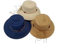 купить Шляпа женская летняя D35cm, одноцветная с бусами в Кишинёве