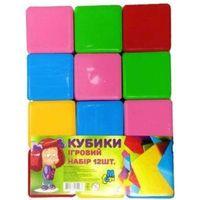 M Toys кубики Цветные, 12 шт