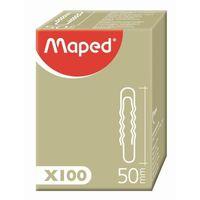 MAPED Скрепки MAPED округлые, волнистые, 50 мм, 100 штук