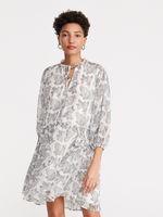 Платье RESERVED Белый с принтом xh564