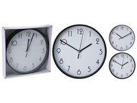 Часы настенные круглые D30.5cm, цвет черный/белый
