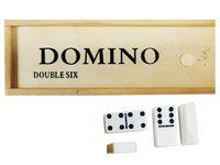 купить Игра домино в деревянной коробке 40X20X9cm в Кишинёве