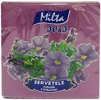 MILTA Салфетки столовые Milta 33x33см 3-сл., 30 штук фиолетовы