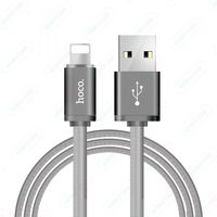 Data Cable Hoco U5 for Apple metal ,Silver