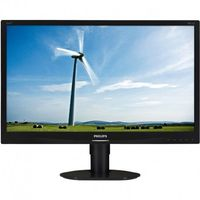 """23.0"""" Philips """"231S4QCB"""", Black (IPS 1920x1080, 7ms, 250cd, LED10M:1, DVI, HAS, Pivot) (23.0"""" IPS W-LED, 1920x1080 Full-HD, 0.265mm, 7ms GTG, 250 cd/m², DCR 20 Mln:1 (1000:1), 16.7M Colors, 178°/178° @CR>10, 30-83 kHz(H)/56-75 Hz(V), DVI-D, Analog D-Sub, Built-in PSU, HAS 110mm, Tilt: -5°/+20°, Swivel +/-65°, Pivot, VESA Mount 100x100, Black)"""