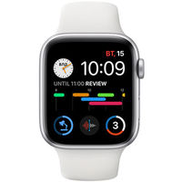 Apple Watch SE 40mm Silver Aluminum Case with White Sport Band, MYDM2 GPS