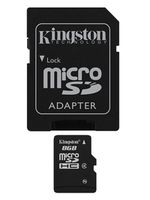 Kingston 8GB microSDHC Class4 with SD adapter
