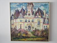 Дворец в Будмерице (Словакия), 50x50 см., холст, масло