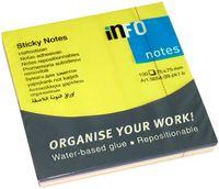 Info Notes Бумага клейкая INFO 75x75мм/4цв., 100 листов,  неон