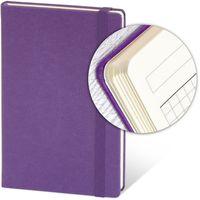 Ежедневник недатир. 13x21 см, 96 л, резинка, фиолетовый