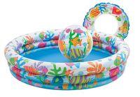 Intex Бассейн с кругом и мячом 132 х 28 см, 204 л