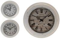 """Часы настенные """"Ретро под дерево"""" D43cm, цвет белый"""