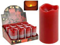 купить Свеча мерцающая 13X7cm, LED, с функцией таймера, красная в Кишинёве