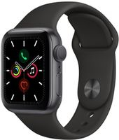 Apple Watch 5 40mm Space Grey Aluminum Case Black Sport Band