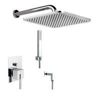 Cмеситель  для душa, скрытый монтаж, верхний / ручной душ, шланговое подсоединение  с душевим гарнитуром,FIORE